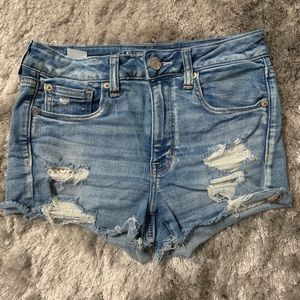 American Eagle Lace Destroyed Shorts